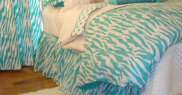 turquoise bedding for teens | Tween/Teen Bedding | Turquoise Zebra Glamour Bedding