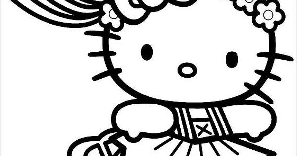 37 Ballerina Coloring Pages HELLO KITTY BALLERINA COLORING PAGE Bday