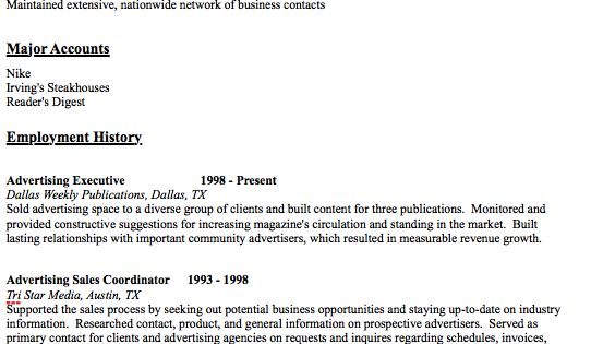 Advertising Agent Resume Sample -    resumesdesign - advertising resume