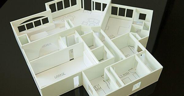 Foam board house model