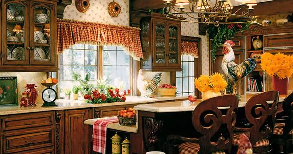 French country kitchen  가구자료  Pinterest