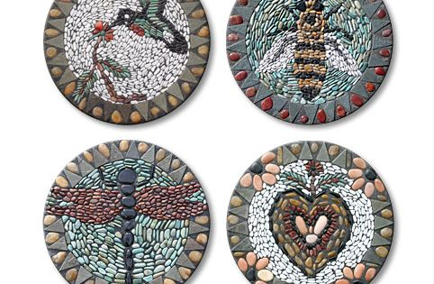 Pebble Mosaic Stepping Stone Patterns | Garden Stepping Stones