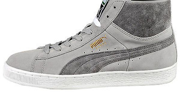 Puma Suede Mid Classic+ Mens 356340 16 Steel Grey White