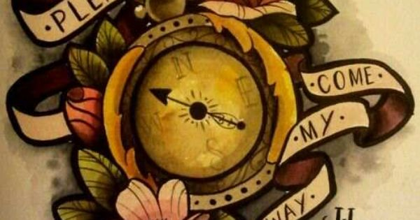 "Change to a clock and say ""Time waits for no one ..."