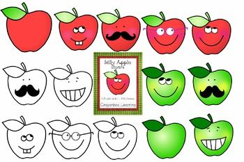 Apple Clipart Silly Apples Apples With Faces Commercial Use Clip Art Freebies Clip Art Free Clip Art