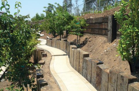 Living spaces pinterest railroad ties retaining walls and ties