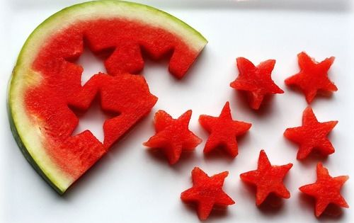 Watermelon Stars - Would be excellent in a 4th of July fruit