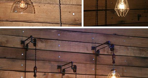 L mparas de polea pulley lamps images industrialrewind for Polea para subir muebles