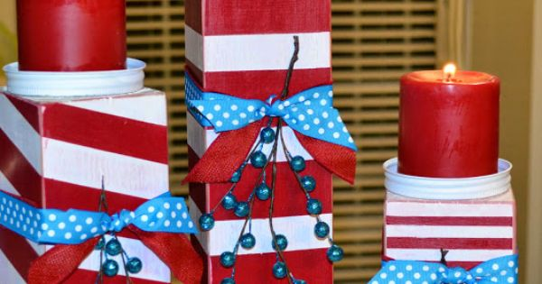 Itsy bitsy paper diy 4x4 christmas candlesticks for Decoration 4x4