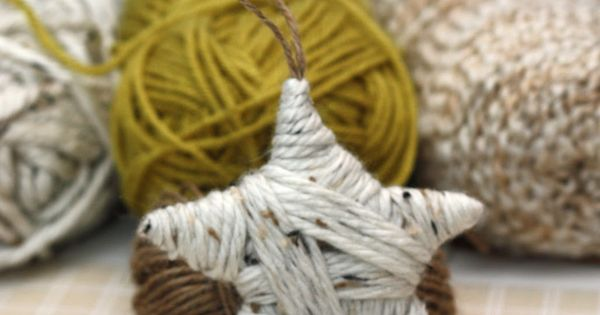 diy yarn star ornament