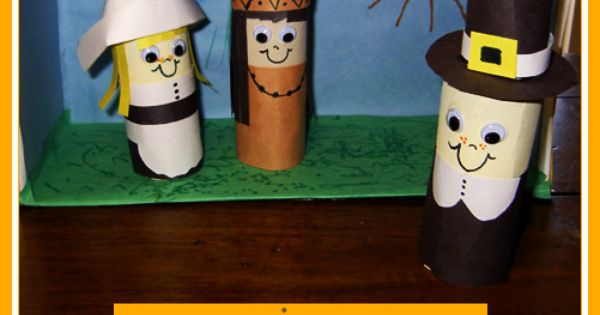 Make your own pilgrim native american finger puppets and for Toilet roll puppets