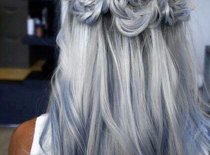 Blue grey hair Beautiful hair style on wholovesbeauty