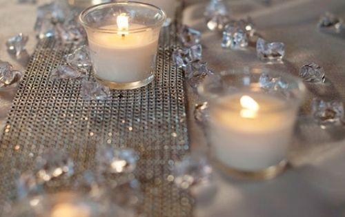winter deko ideen zu hause kristallen kerzen tischdeko. Black Bedroom Furniture Sets. Home Design Ideas