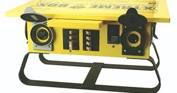 Coleman Cable 1970 Xtreme Box Straight Blade Portable Power Distributor By Coleman 632 00 From The Manufact Portable Power Straight Blade Portable Generator