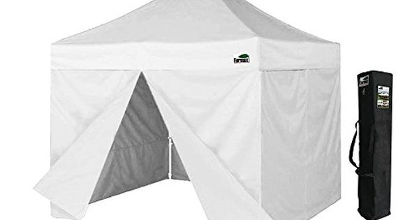 Eurmax 10x10 Pop Up Canopy Tent Party Gzaebo Shelter W Full Walls And Carry Bag White Read More Reviews Of The Product B Canopy Tent Tent Pop Up Canopy Tent