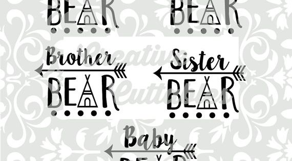 Svg Arrow Mama Bear Papa Baby For Silhouette Or Other