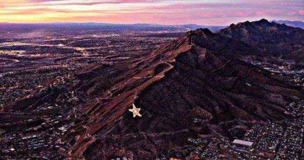 Beauty El Paso Texas Aerial View Natural Landmarks Landscape