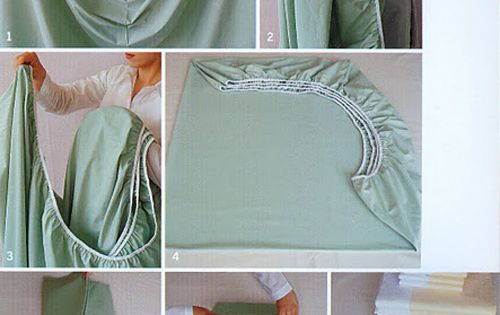 How to fold fitted sheets and other clever ideas to make life