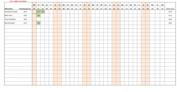 Excel Urlaubsplaner Kostenlose Vorlage Zum Download Anuschka Schwed Kostenlose Vorlagen Planer Vorlagen Vorlagen