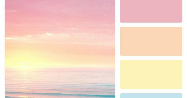 Lovely, fresh spring pastel color palette! beachdecor