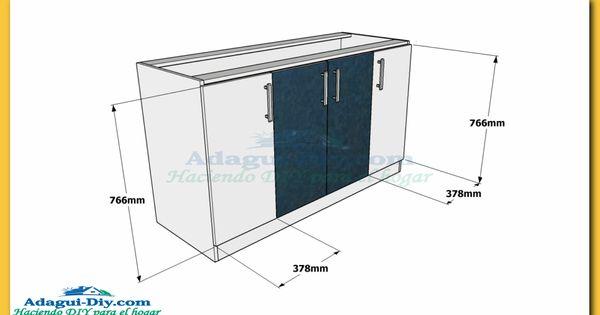 Como hacer muebles de cocina plano mueble bajo mesada de for Muebles para planos