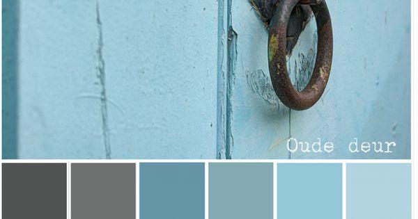 Slaapkamer Kasten Praxis : OUDE DEUR - Kleurenpalet blauw, grijs ...