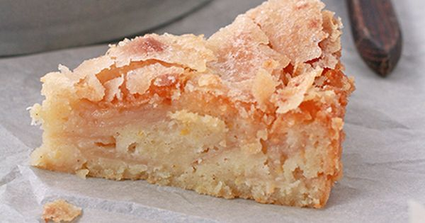 Yummy. David Rocco's apple yogurt cake - looks like a pie?