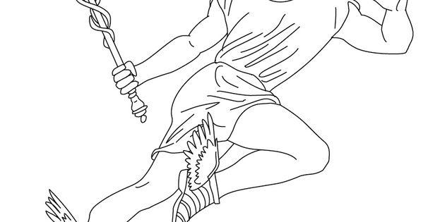Desenho De HERMES O Mensageiro Dos