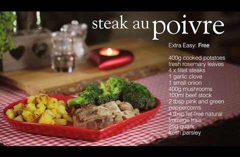 Slimming World steak au poivre - YouTube | slimming world ...
