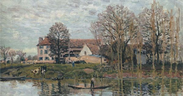 alfred sisley and his paintings banks of the seine at port marly artistic inspiration