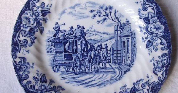 Antiguo plato porcelana inglesa johnson bros coaching - Johnson brothers vajilla ...