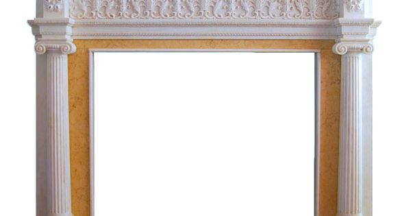 Ionic Albany Hand Carved Marble Fireplace Mantel Fluted