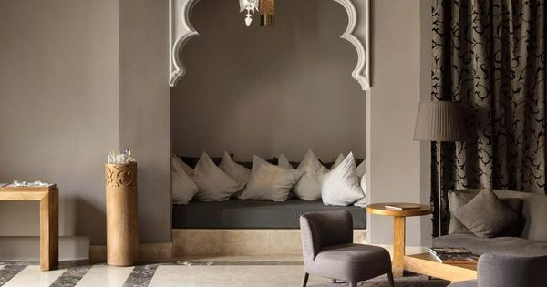 A little pop of modern Moroccan design with a multi-foiled arch &