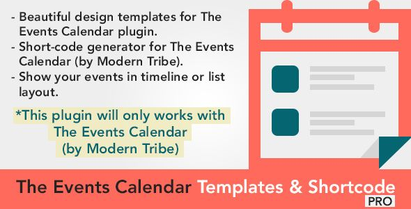 Download The Events Calendar Templates and Shortcode - WordPress - event calendar templates