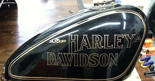 Muscle Car Decals >> AMF-Harley-Sportster-61243-78-Anniversary-75th-GAS-TANK-DECAL-Black-w-Gold-Pair | CHOPPER ...