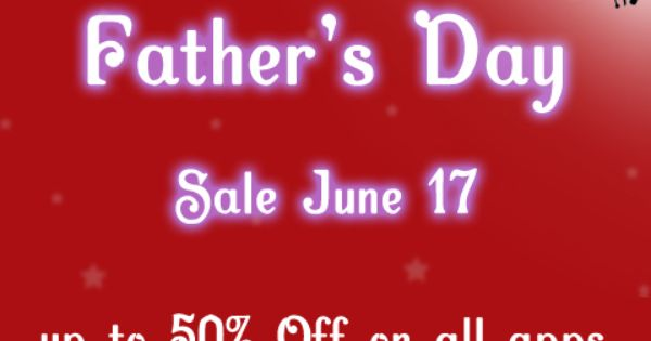 father's day sale app store