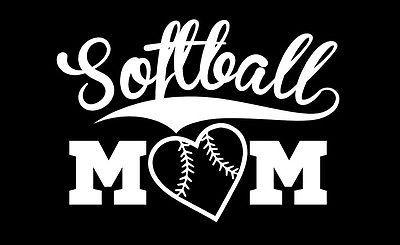 Softball Mom Vinyl Decal Sticker Softball Amp Girl Scouts