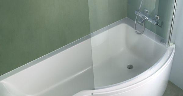Baignoire douche bathroom pinterest architecture for Baignoire angle 120