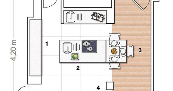 Plano cocina isla buscar con google planos for Planos de cocina en isla