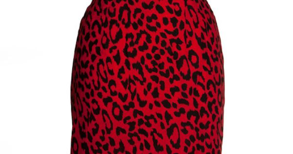 Red Leopard Print Pin-up Wiggle Pencil dress by Style Icon's Closet 50s