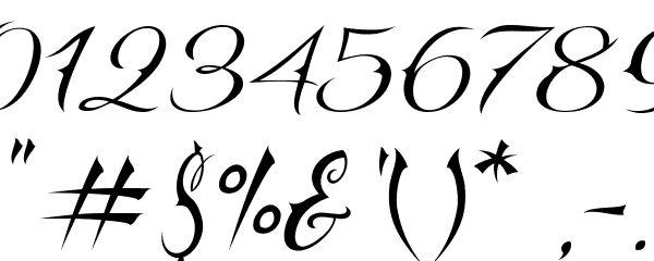 Script numbers tattoo vtc nuetattooscript font other