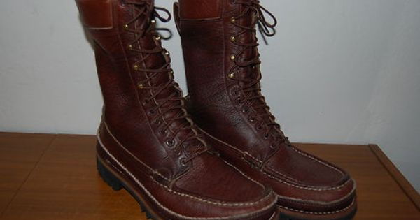 Russell Moccasin Co Boots 9 5e Vintage Hunting Hiking