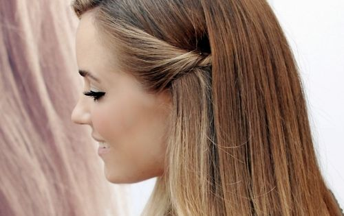 A simple everyday hairstyle worn by laurenconrad hair | Tumblr