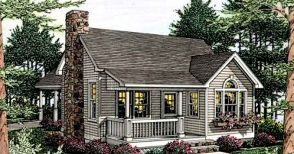Front Elevation Plan 406 215 Guest Cabin