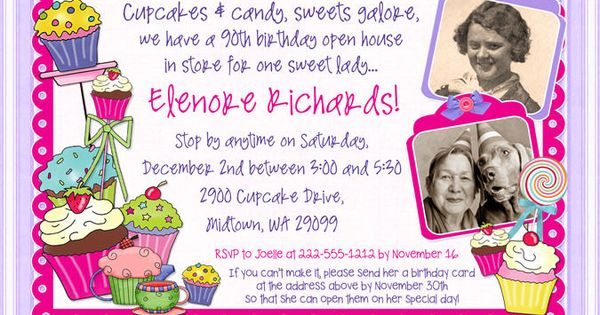 wording for 90th birthday invitations | Sweet Open House ...