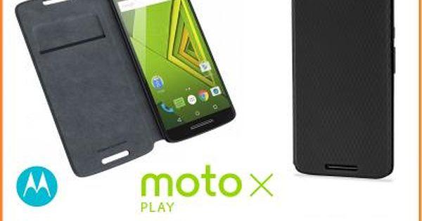 Oryg Etui Flip Shell Motorola Moto X Play Czarne Play Motorola Moto
