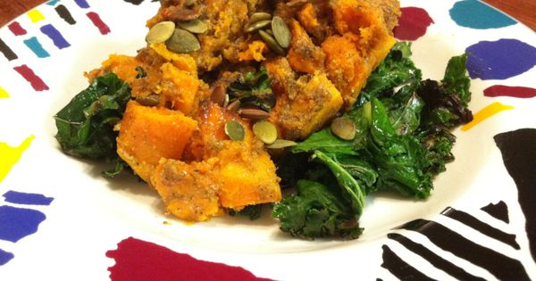 ROASTED BUTTERNUT SQUASH WITH PUMPKIN SEED PESTO | Food | Pinterest ...
