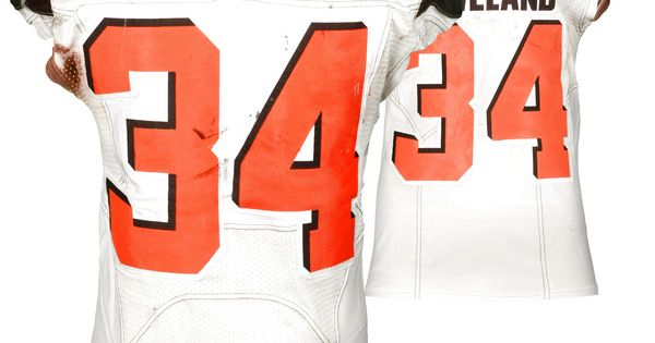 e4c6f02cf30 ... Collectibles Fansedge Isaiah Crowell Cleveland Browns Fanatics  Authentic Game-Used White 34 Jersey vs Cincinnati Bengals On ...