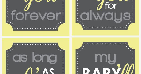 I'll love you forever Quote Set 4 8x10 Nursery by BigMowthPrints