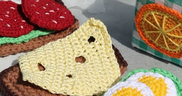 will you please crochet food for your kids to play with... It